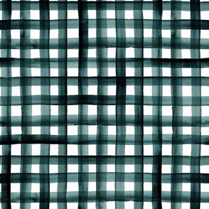 watercolor plaid-teal