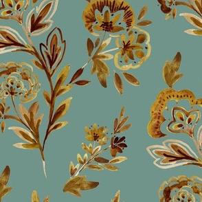 Gold Boho Floral