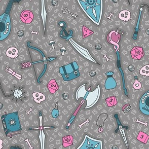 RPG Quest Large in Teal & Pink