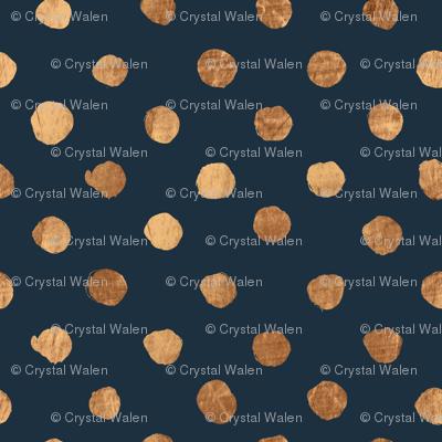 Dot Copper on Indigo