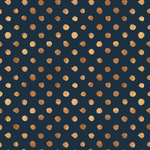 Copper Swiss Dot Indigo