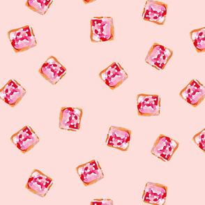 Iced Vovo Aussie Biscuit pink background by Mount Vic and Me