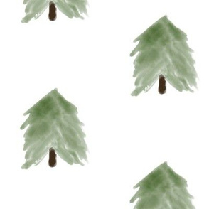 `Watercolor  trees  - big