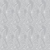 Seahorse white grey