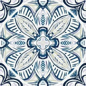 Blue, Mauve and Grey Boho Gypsy Tiles