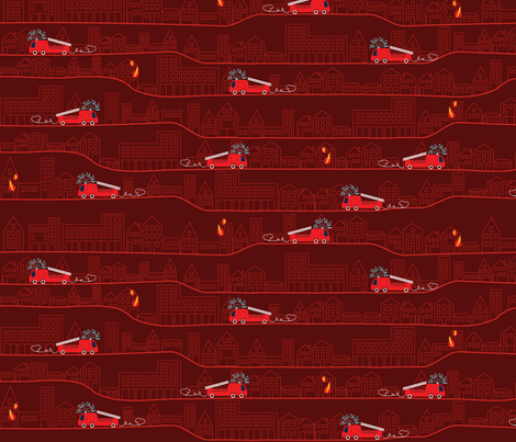 Baby Firetruck red fabric by heyjunge on Spoonflower - custom fabric