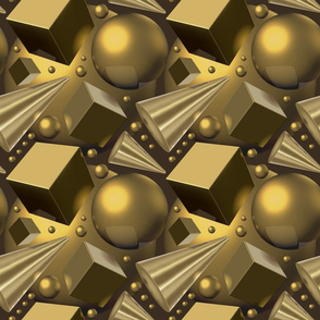 Three-dimensional golden forms