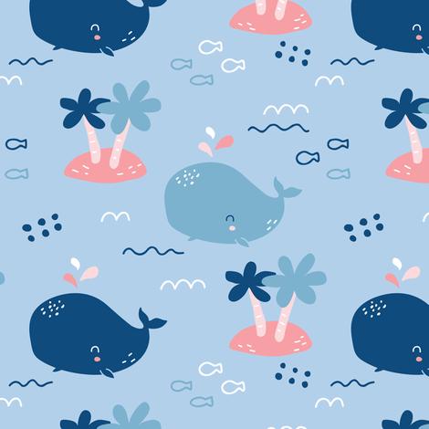 whale_pattern2 fabric by yuliia_studzinska on Spoonflower - custom fabric