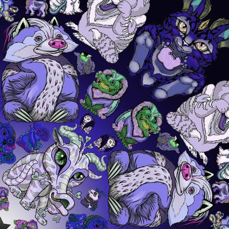 Metots Kalidoscope Blue fabric by amy_kollar_anderson on Spoonflower - custom fabric