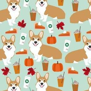 corgi pumpkin spice latte - coffee, latte, corgi, corgis, pumpkin spice, dog dogs - mint
