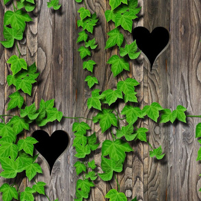 Ivy and Wood Pattern