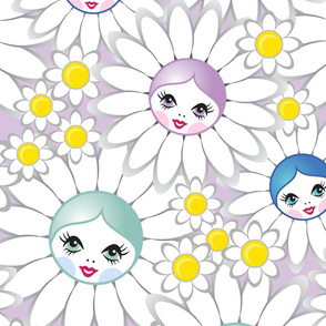 Doll-faced Flowers in Lilac