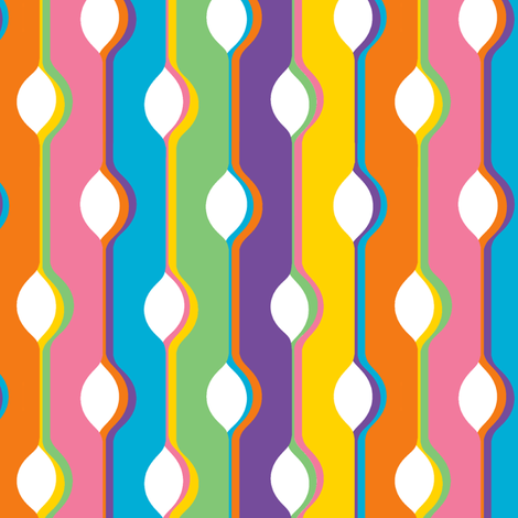 1960s Bubble Stripes 3 fabric by eclectic_house on Spoonflower - custom fabric
