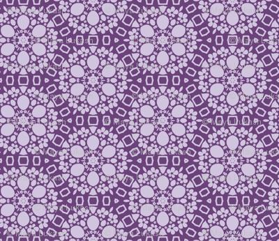 Violet stylized floral pattern