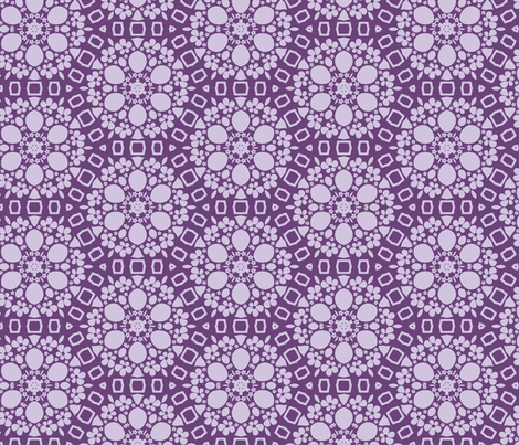 Violet stylized floral pattern fabric by maya_lukash on Spoonflower - custom fabric