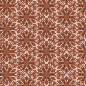 Stylized brown flowers