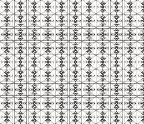Deco Check- black & white fabric by noelle_mckown on Spoonflower - custom fabric
