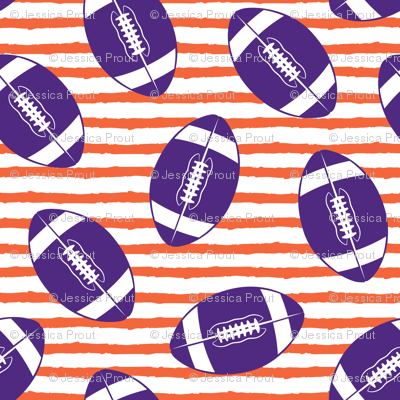 (small scale) college football (purple and orange)