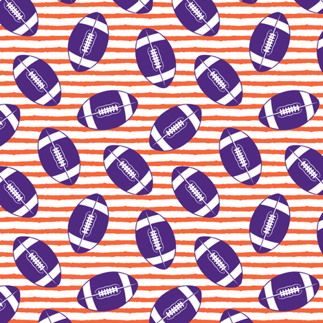 (small scale) college football (purple and orange) fabric by littlearrowdesign on Spoonflower - custom fabric