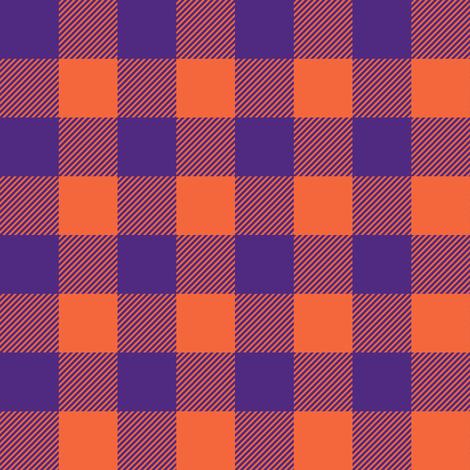 purple and orange plaid fabric by littlearrowdesign on Spoonflower - custom fabric