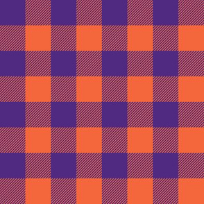 purple and orange plaid
