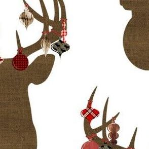"""Holiday Ornaments Deer Head 5.5x8"""""""
