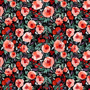 Indy bloom Design Winter berry blossom Black B