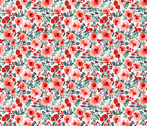 Indy bloom Design Winter berry blossom C fabric by indybloomdesign on Spoonflower - custom fabric