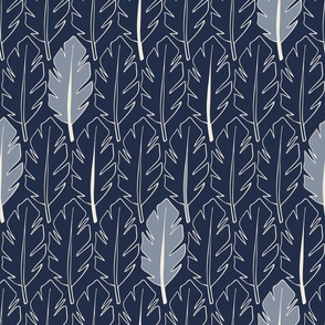 Leaves - Blue, Indigo
