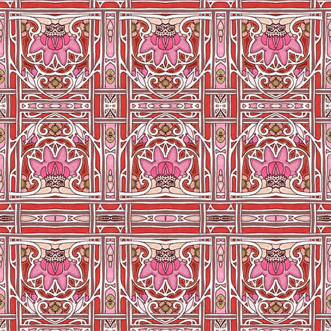When the Lotus Blooms fabric by edsel2084 on Spoonflower - custom fabric