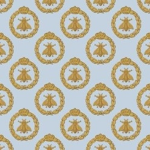 Napoleonic Bees ~ Faux Gilt on  Versailles Fog