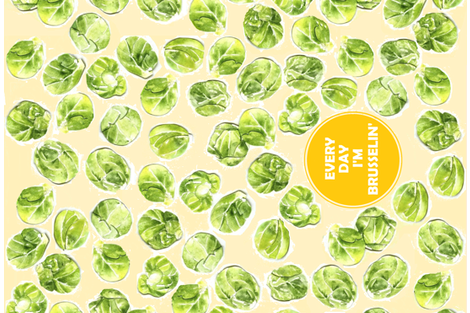 EVERY DAY I'M BRUSSELIN' fabric by cityette on Spoonflower - custom fabric