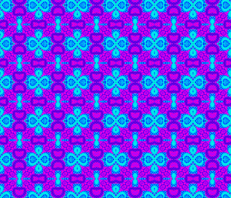 Purple & Blue Damask fabric by just_meewowy_design on Spoonflower - custom fabric