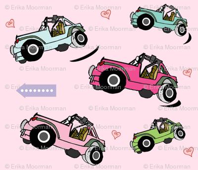 cruisin girly jeeps- MED7 light pink