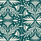 Lenox - Damask Dark Teal
