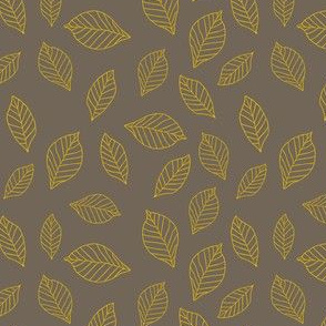yellow leaves on grey