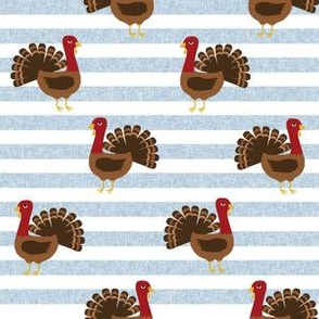 turkey thanksgiving fabric - turkey, fall, autumn, november, american, bird