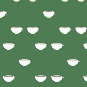 Cups in Green Bucks