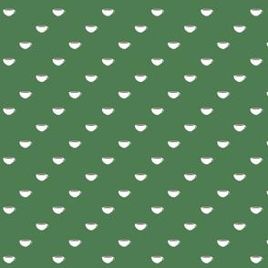 Diagonal Cups in Green Bucks