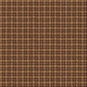 CD26  - Miniature Brown and Beige Speckled Plaid