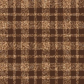 CD26  - LG - Speckled Brown and Tan Plaid