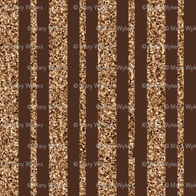 CD26  - Mini Beige Sparkle and Brown Stripe