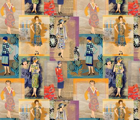 1920's Ladies fabric by jamie_kalvestran_scrap-bags on Spoonflower - custom fabric