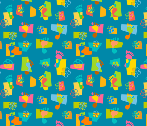 Goofy Footin' 3 fabric by madtropic on Spoonflower - custom fabric