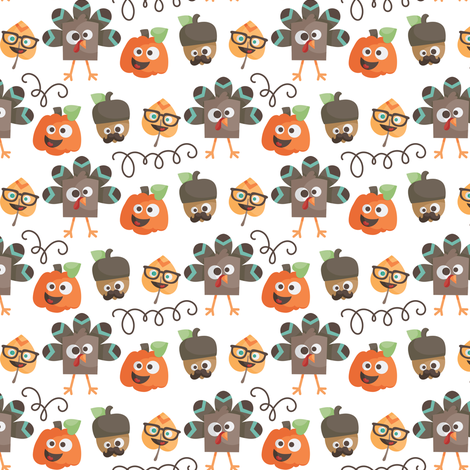 Silly Spice Thanksgiving fabric by dorkydoodles on Spoonflower - custom fabric