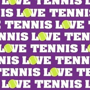 Love Tennis on Purple Large