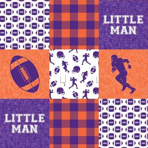 Little Man - Football Wholecloth - Purple and Orange