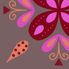 Folksy flower