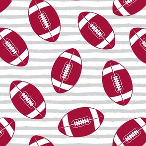 college football (crimson and grey)