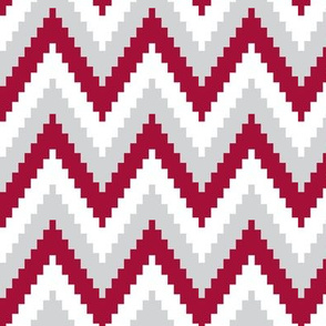 ric rac // crimson white grey